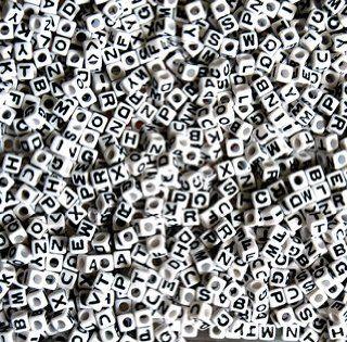 Alphabet Letter Beads 7mm, 200pc