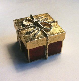 Estee Lauder Collectible Solid Perfume Compact Golden Gift Christmas Present (Empty) : Other Products : Everything Else