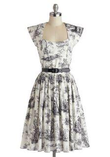Bernie Dexter Eiffel Power Dress in Toile  Mod Retro Vintage Dresses