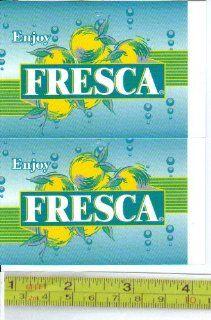 Large Square or Marketing Vendor Size Fresca LOGO Soda Vending Machine Flavor Strip, Label Card, Not a Sticker