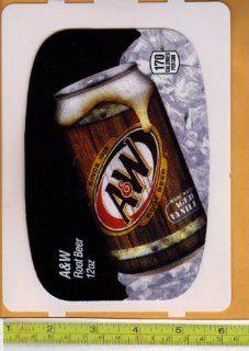 Large HVV High Visability Vendor (Pepsi Machine Size) A & W Root Beer CAN Soda Vending Machine Flavor Strip, Label Card, Not a Sticker