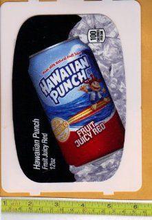 Large HVV High Visability Vendor (Pepsi Machine Size) Hawaiian Punch Fruit Juicy Red CAN Soda Vending Machine Flavor Strip, Label Card, Not a Sticker