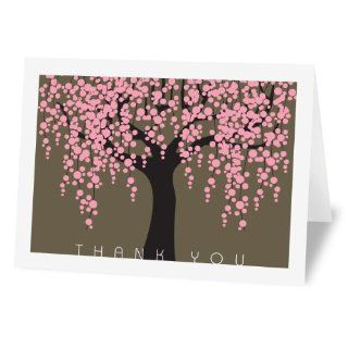 Fabulous Stationery Sakura   12 Single Design Thank You Notes (12WSDNP29) : Greeting Card Envelopes : Office Products