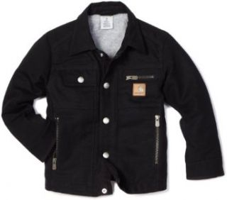 Carhartt Boys 2 7 Motor City Coat Sherpa Lined Jacket, Caviar Black, 6: Clothing