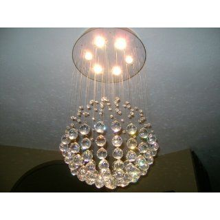 "Modern Chandelier ""Rain Drop"" Chandeliers Lighting with Crystal Balls! H32"" X W18""   Raindrop Chandelier"