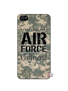 Proud Air Force Girlfriend United States USA Camo iPhone 4 Quality Hard Snap On Case for iPhone 4 4S 4G   AT&T Sprint Verizon   Black Frame: Cell Phones & Accessories