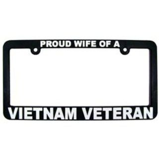Proud Wife of a Vietnam Veteran License Plate Frame: Automotive