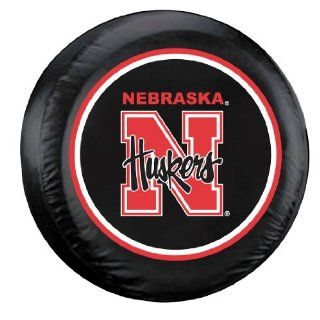 Nebraska Huskers Black Tire Cover   Standard Size : Sports Fan Tire And Wheel Covers : Sports & Outdoors