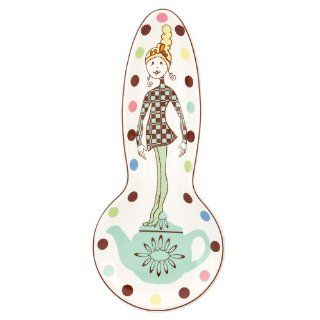 Gorham Merry Go Round Polly Put The Kettle On Spoon Rest: Kitchen & Dining
