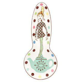 Gorham Merry Go Round Polly Put The Kettle On Spoon Rest: Kitchen & Dining