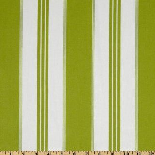 54'' Wide Covington Tradewinds Woven Twill Stripe Island Green Fabric By The Yard