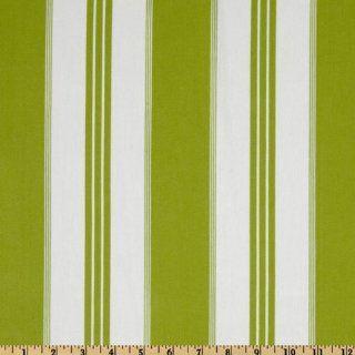 54'' Wide Covington Tradewinds Woven Twill Stripe Island Green Fabric By The Yard
