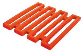 Zak Designs Hex Orange Melamine Trivet