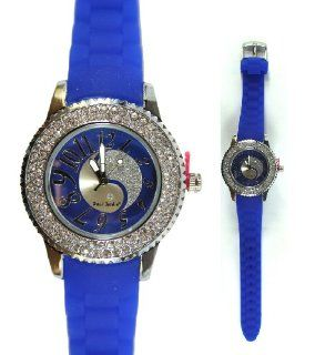 Blue Yin Yang Paul Jordan Watch   Silicone Wristband Watch: Watches