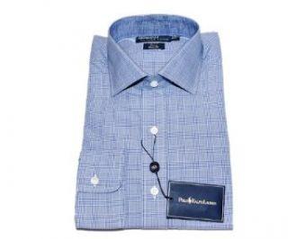 Polo Ralph Lauren Regent Mens Dress Shirt Blue Check 16/34 at  Men�s Clothing store