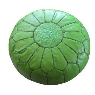Stuffed Moroccan Pouf color pistachio   Footstools