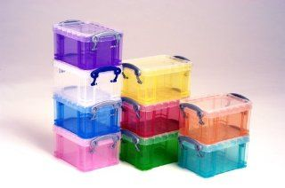 Really Useful Box 0.3 Litre Clear   Home Office Storage And Organization Products