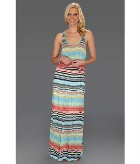 Michael Stars Anoinette Island Stripe Halter Mini Dress Atlantic