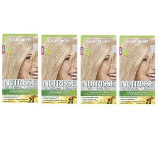 Garnier Nutrisse Ultra Bleach Blonde Hair Lightening Kit (Pack of 4) Garnier Hair Color