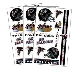 Atlanta Falcons Temporary Body Tattoos 3 Pack : Sports Related Merchandise : Sports & Outdoors