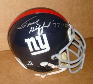 Autographed Frank Gifford Mini Helmet   ( : Sports Related Collectibles : Sports & Outdoors