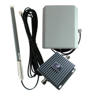 GSM/3G 850MHz 1900MHz 65dB Gain Mobile Cell Phone Signal Booster/Repeater Amplifier Full Kit For Home Or Office  With Indoor Panel Directional And Outdoor Omni directional Antennas: Cell Phones & Accessories