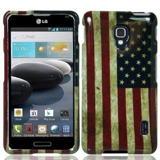 LG Optimus F6 D500 Graphic Hard Case   USA Flag (Package include Free Screen Protector + Free Ultra Sensitive Stlyus Pen by BeautyCentral TM): Cell Phones & Accessories