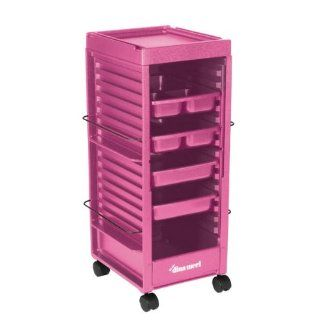Top Performance Plastic Classic Rolling Grooming Carts, Pink  Pet Grooming Supplies