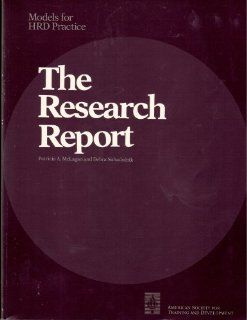 Research Report (Models of Hrd Practice) Partrick McLagan 9789992273357 Books