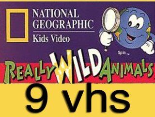 national geographic kids video set 9 vhs : National Geographic's Really Wild Animals: Monkey Business and Other Family , Nat'l Geo: Tropical Rain Forest, National Geographic's Really Wild Animals: Wonders Down Under ,National Geographic's A
