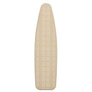 Household Essentials Fibertech Wide Top 4 Leg Mega Pressing Station Ironing Board with Natural Cotton Cover