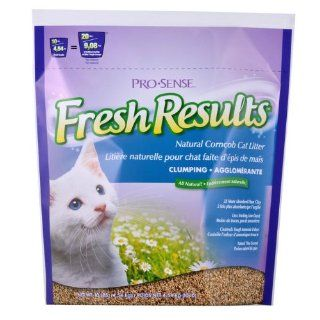 Pro Sense Fresh Results Clumping Corncob Cat Litter with Natural Pine Scent, 10 Pound : Pet Litter : Pet Supplies