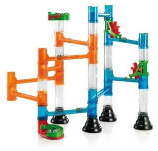 Quercetti 45 Piece Transparent Marble Run   Marble Run Construction Toy: Toys & Games