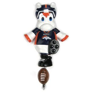 "Denver Broncos NFL Mascot Wall Hook (7)"" : Sports Related Merchandise : Sports & Outdoors"
