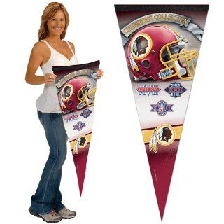 Wincraft Washington Redskins 17x40 Super Bowl Champions Premium Pennant : Sports Related Pennants : Sports & Outdoors