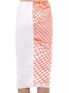 Cycle fluoro grid print pencil skirt  Dion Lee  MATCHESFASHI