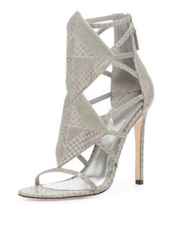 Luanna Mixed Media Sandal, Light Gray   B Brian Atwood   Light grey (39.0B/9.0B)
