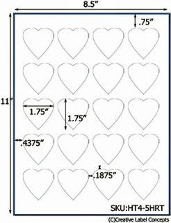 1.75 x 1.75 Heart Shaped Hang Tag Sheet (die cut white cardstock) USUALLY SHIPS SAME DAY   Home And Garden Products