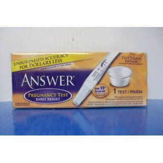 Answer Pregnancy Test, Early Results, 1 Test: Science Lab Supplies: Industrial & Scientific
