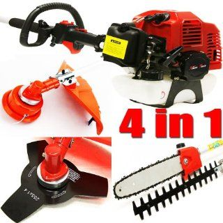 7ft Long Reach 4 in 1 Gas Chainsaw Trimmer Pole Saw Grass Tree Weed Cutter   Chain Saws Gasoline