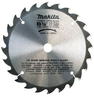 Makita A 85092 6 1/2 Inch 24 Tooth ATB Thin Kerf Saw Blade with 5/8 Inch Arbor   Circular Saw Blades