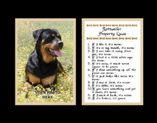 Rottweiler Property Laws Wall Decor Pet Saying Dog Saying Rottweiler Saying   Decorative Plaques
