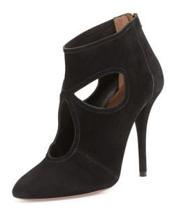 Sexy Thing Suede Bootie, Black   Aquazzura   Black (35.5B/5.5B)