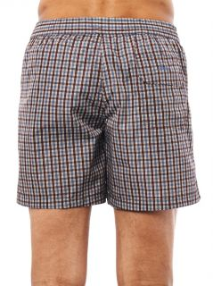 Check print swim shorts  Brioni