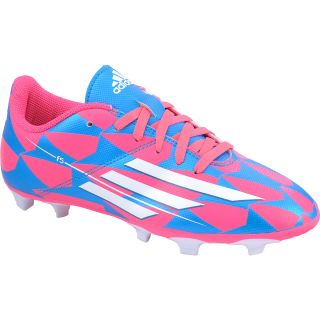 adidas Girls F5 FG J Low Soccer Cleats   Size: 1, Pink/blue