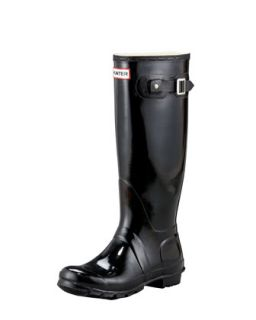 Gloss Welly Boot   Hunter Boot   Black (10.0B)