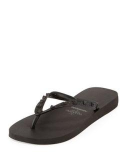 Mens by Havaianas Rockstud Flip Flop, Black   Valentino   Black (8M)
