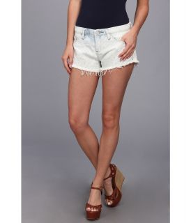 Blank NYC Solid Gold Striped Embroidered Short in No Worries Womens Shorts (White)