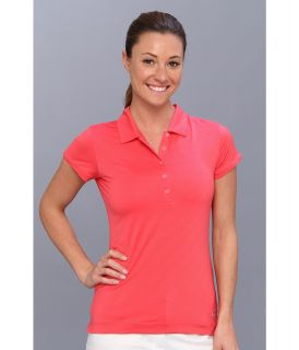 Nike Golf Mini Stripe Polo Womens Short Sleeve Pullover (Pink)