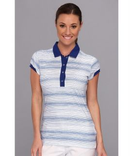 Nike Golf Multi Stripe Polo Womens Short Sleeve Pullover (Blue)